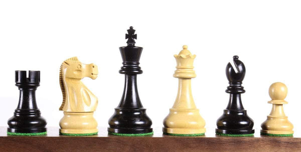 "Jaques 3.75"" Ebonized Chess Pieces Piece"