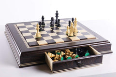 JLP Hardwood Cabinet with Drawers and Removable Chess Board Board