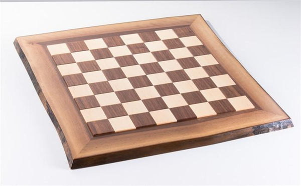 JLP Live Edge Hardwood Chessboard #3 - Board - Chess-House