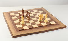 JLP Natural Edge Hardwood Chessboard #16 - Board - Chess-House