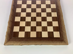 JLP Natural Edge Hardwood Chessboard #20 - - Chess-House