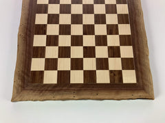 JLP Natural Edge Hardwood Chessboard #21 - - Chess-House