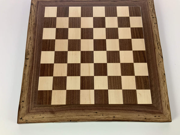 JLP Natural Edge Hardwood Chessboard #22