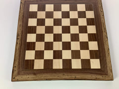 JLP Natural Edge Hardwood Chessboard #22 - - Chess-House