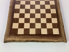 JLP Natural Edge Hardwood Chessboard #23 - - Chess-House