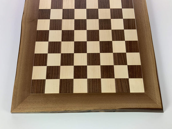 JLP Natural Edge Hardwood Chessboard #24