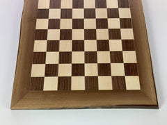 JLP Natural Edge Hardwood Chessboard #24 - - Chess-House