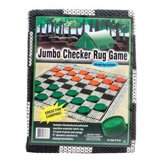 Jumbo Camping Checkers Rug - Checkers - Chess-House