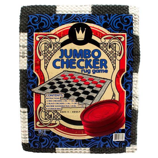 Jumbo Checkers Rug - Checkers - Chess-House