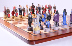 King Arthur Chess Set on Padauk Board - Chess Set - Chess-House