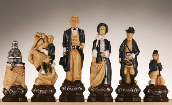 "Large 5"" Civil War Chess Pieces - Piece - Chess-House"
