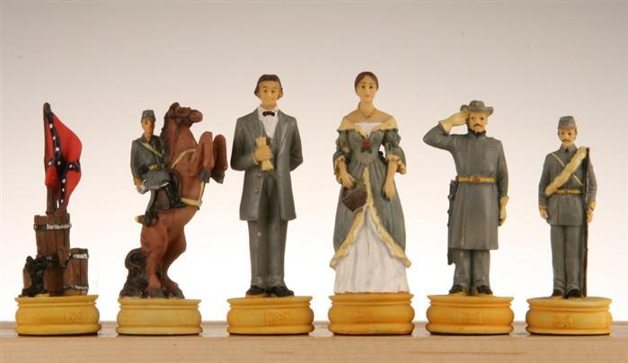 Large Civil War Chess Pieces II - Chess Pieces