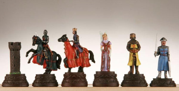 "Large Crusades Handpainted Chessmen, 5"" tall - Piece - Chess-House"