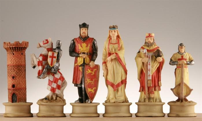 Large Crusades III Medieval Chess Pieces - Chess Pieces