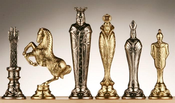 Large Metal Renaissance Chess Pieces -  Chess Pieces