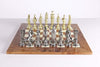 Large Metal Renaissance Chess Set On Elm Briarwood Board - Chess Set - Chess-House