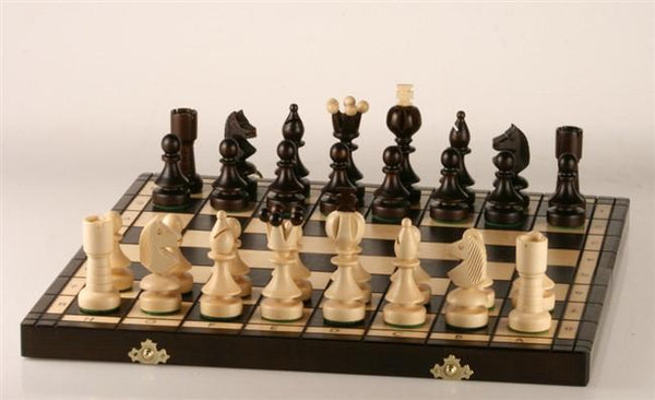 Large Pearl Wooden Chess Set - Chess Set - Chess-House
