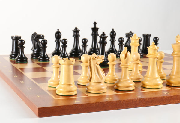 Large Staunton Wooden Chess Set Combo - Black Lacquer - Chess Set - Chess-House