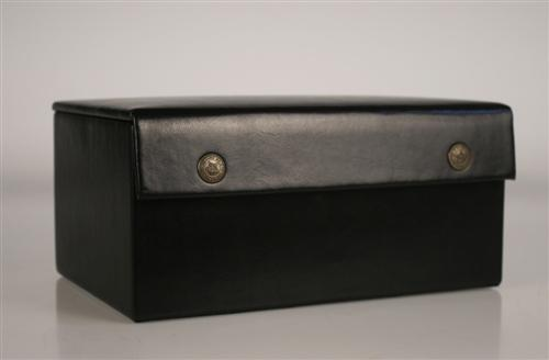 "Leather Styled Chess Box (for most 3.5 to 3.75"" pieces) - Box - Chess-House"