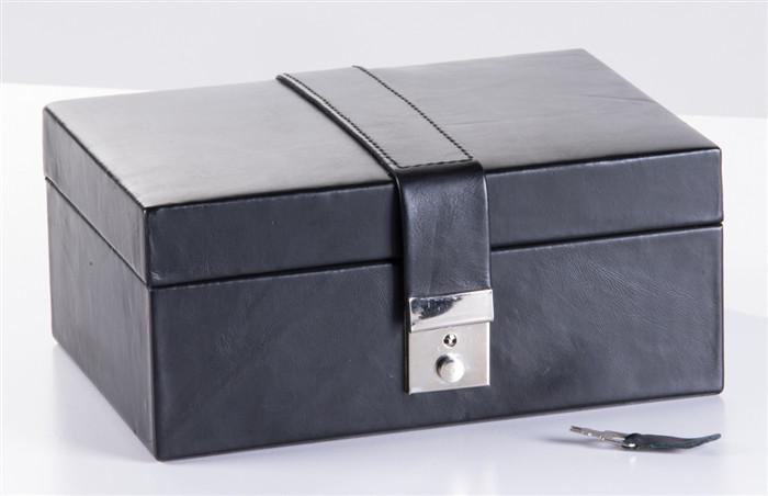 Leatherette Chess Box with Lock - Chess Boxes