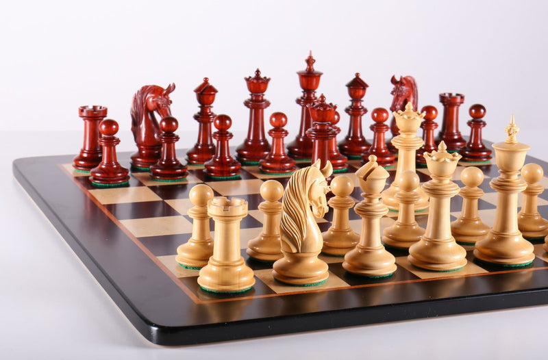 Luxury Chess Set in Padauk 4 5/8