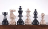 Marble Chess Pieces Euro Design in Marina & Black Piece