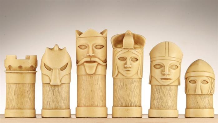 Masked Chess Pieces - SAC Antiqued
