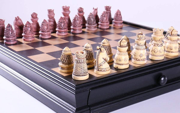 Medieval Chess & Checkers Set - Chess Set - Chess-House