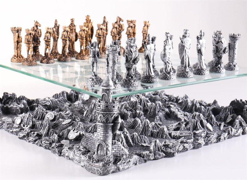 Medieval Knights 3D Chess Set