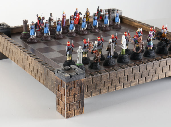 Medieval Metal Crusades Chess Set and Board - Chess Set - Chess-House