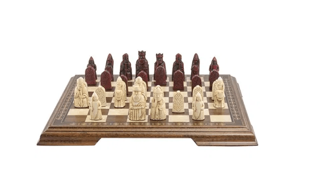 Mini Isle of Lewis Chess Pieces - SAC Antiqued