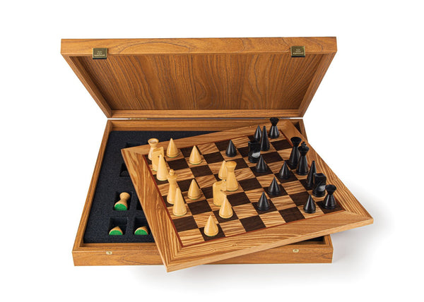 "Modern Style Olive Burl Chess Set - 16"" - Chess Set - Chess-House"