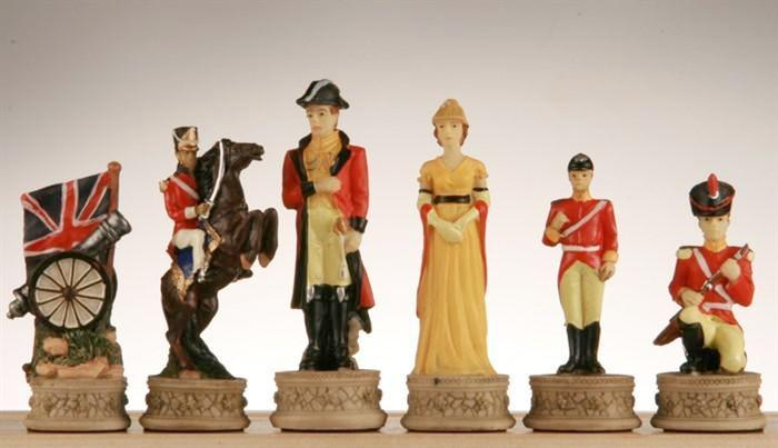 Napoleon and Wellington - The Battle of Waterloo Chess Pieces -  Chess Pieces