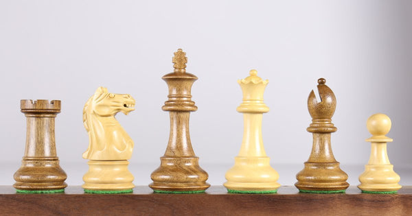 "Oxford 3.75"" Chess Pieces in Acacia Piece"