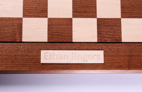 "Personalize 21"" JLP Hardwood USA Chessboard with Engraved Maple Inset - Board - Chess-House"