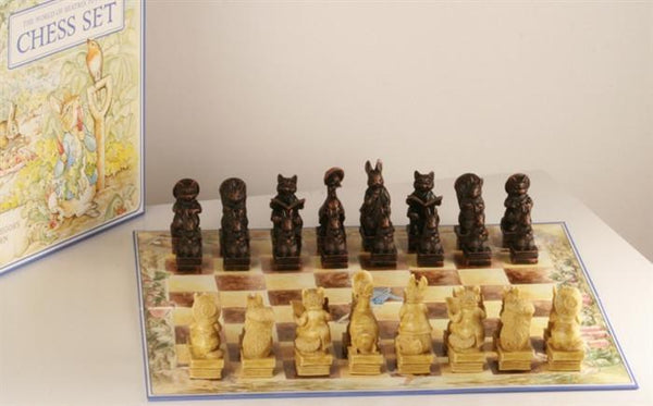 Peter Rabbit Chess Pieces - SAC Antiqued - Chess Set - Chess-House