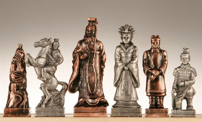 Pewter Chinese Qin Chessmen
