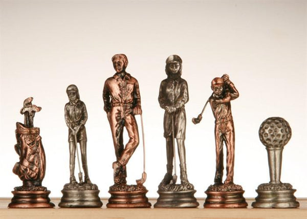 Pewter Golf Chessmen - Piece - Chess-House