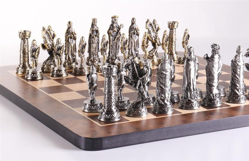 Pewter Medieval Chess Set