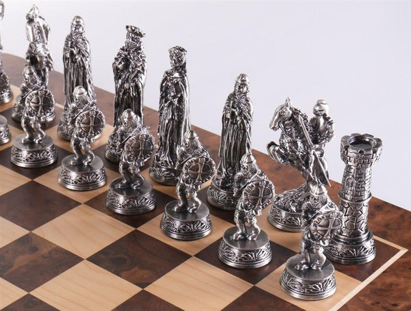 Pewter Medieval Chess Set Chess House