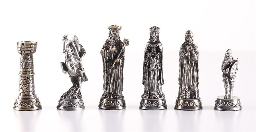 Pewter Medieval Chessmen -  Chess Pieces