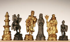 Pewter Medieval Chessmen - Gold and Silver - Piece - Chess-House