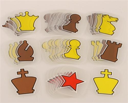 Pieces (Clear) for 28 inch Demo Board -  Chess Pieces