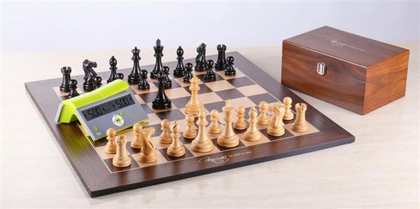 Polgar Chess Set and Clock Combo - Chess Set - Chess-House