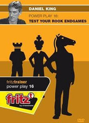 Powerplay 16 - Test Your Rook Endgames - King - Software DVD - Chess-House