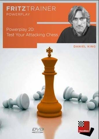 Powerplay 20 - Test Your attacking Chess - King - Software DVD - Chess-House