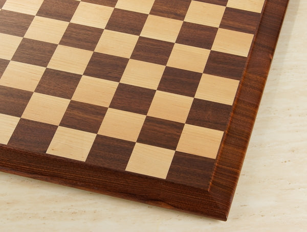 "Queen Anne 21"" Hardwood Player's Chessboard 2.25"" Squares JLP, USA (DISCOUNTED FOR IMPERFECTION) - Board - Chess-House"