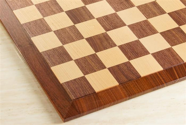 "Raised Edge Style 21"" Hardwood Player's Chessboard 2.25"" Squares JLP, USA - Board - Chess-House"