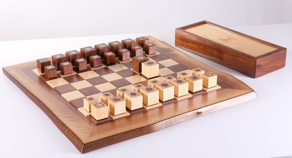 Raphael Design Live Edge Chess Set   Chess Set   Chess House