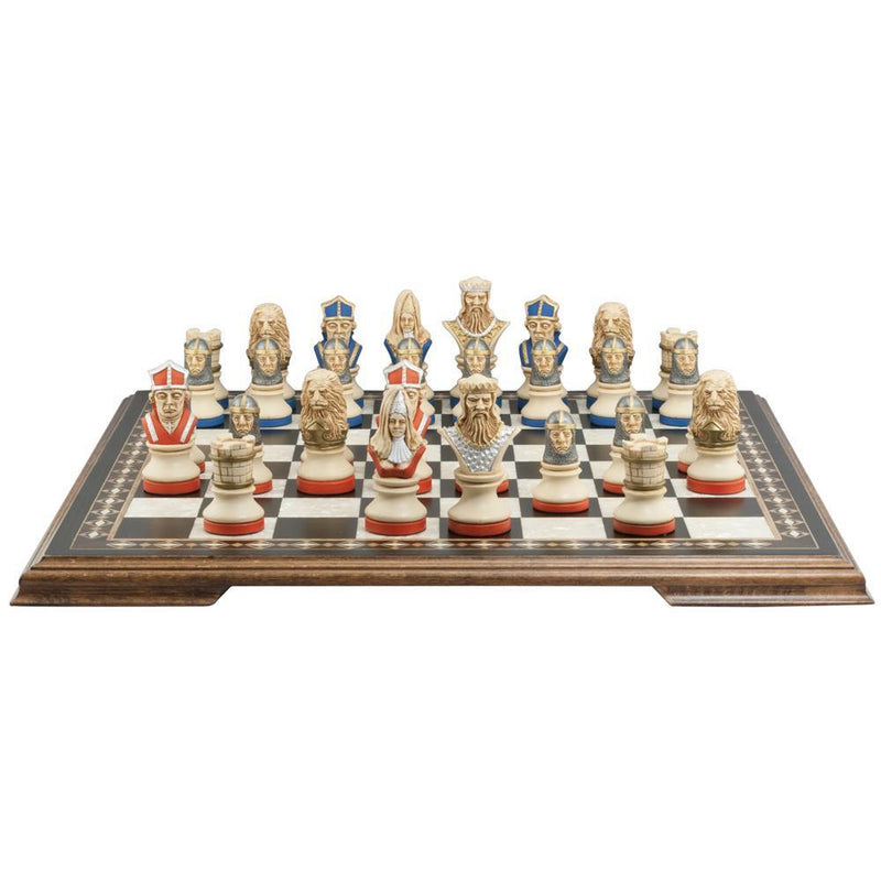 Richard the Lionheart Chess Pieces - SAC Hand Painted